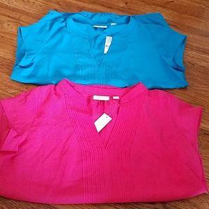 NWT NY&C cap sleeve blouse bundle